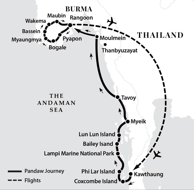 River Cruise Map
